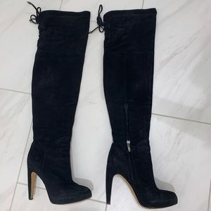Sam Edelman Size 6 over the knee suede boots